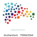 dotted texture dominican... | Shutterstock .eps vector #700065364