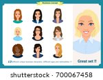 business woman avatars set with ...   Shutterstock .eps vector #700067458