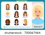 business woman avatars set with ... | Shutterstock .eps vector #700067464