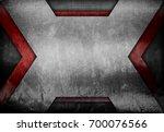 rusty metal mesh with x design... | Shutterstock . vector #700076566