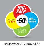 template super sale poster... | Shutterstock .eps vector #700077370