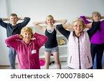 group of seniors doing exercises | Shutterstock . vector #700078804