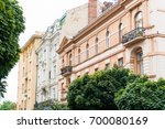 old houses of european... | Shutterstock . vector #700080169