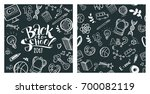 back to school concept. hand... | Shutterstock .eps vector #700082119