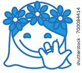 happy smiling just married... | Shutterstock .eps vector #700084414