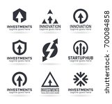 arrow logo design ideas for... | Shutterstock .eps vector #700084858