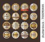sale retro vintage golden... | Shutterstock .eps vector #700090444