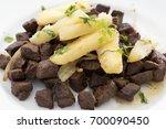 carne do sol with cassava ... | Shutterstock . vector #700090450