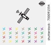 satellite sign icon  vector... | Shutterstock .eps vector #700091554