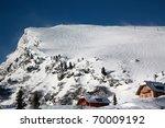 alpine house - stock photo