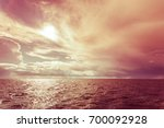 colorful sunset over evening... | Shutterstock . vector #700092928