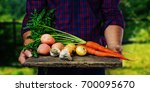 organic vegetables. healthy... | Shutterstock . vector #700095670