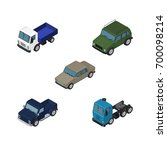 isometric car set of auto ...