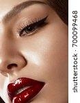 beautiful makeup in hollywood... | Shutterstock . vector #700099468