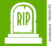 gravestone with rip text icon... | Shutterstock .eps vector #700101193