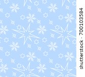christmas seamless pattern with ... | Shutterstock .eps vector #700103584