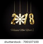 happy new year and merry... | Shutterstock .eps vector #700107100