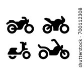 simple and modern motorcycle... | Shutterstock .eps vector #700112308