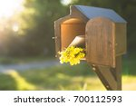 a letter box at the house. the... | Shutterstock . vector #700112593