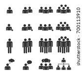 people icon work group team... | Shutterstock .eps vector #700113910