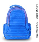 blue school backpack isolated... | Shutterstock . vector #700115434