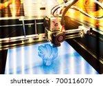 modern 3d printer printing...   Shutterstock . vector #700116070