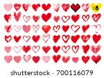 big set of hand drawn hearts....   Shutterstock .eps vector #700116079