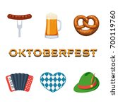 oktoberfest icon set with... | Shutterstock .eps vector #700119760