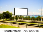 billboard with modern city... | Shutterstock . vector #700120048
