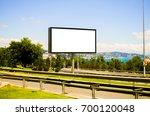 billboard with modern city... | Shutterstock . vector #700120048