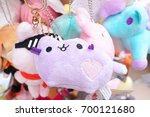 souvenir plush dolls. adorable... | Shutterstock . vector #700121680