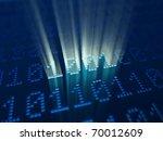 magic binary code 1001 - stock photo