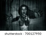 3d illustration of scary ghost... | Shutterstock . vector #700127950