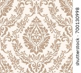 vector damask seamless pattern... | Shutterstock .eps vector #700130998