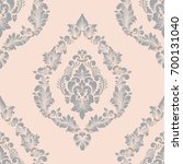 vector damask seamless pattern... | Shutterstock .eps vector #700131040