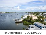 Aerial View Of Homes And Boats...