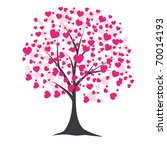 Tree With Pink Hearts For You....