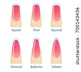 nail manicure  set of nails... | Shutterstock .eps vector #700143436