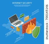 user guard isometric internet... | Shutterstock .eps vector #700145146