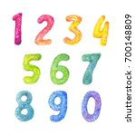 numbers cartoon  kids set.... | Shutterstock . vector #700148809