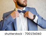 details of the groom. fees for... | Shutterstock . vector #700156060