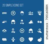 set of 20 editable gambling... | Shutterstock .eps vector #700160884