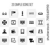 set of 20 editable filming...