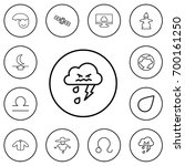 set of 12 editable weather...