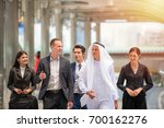 they are walking along the way... | Shutterstock . vector #700162276