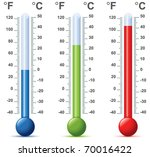 thermometer vector | Shutterstock .eps vector #70016422