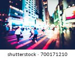 bokeh city night background | Shutterstock . vector #700171210