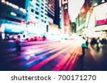 bokeh city night background | Shutterstock . vector #700171270