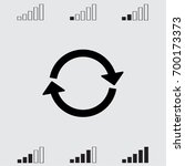round arrow icon  reload vector ... | Shutterstock .eps vector #700173373