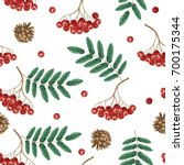 autumn seamless pattern with...   Shutterstock .eps vector #700175344